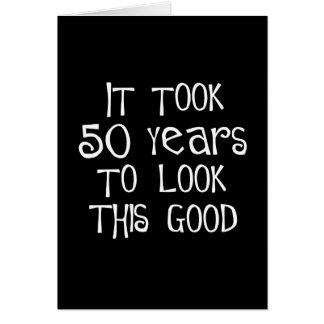 ¡50.o cumpleaños, 50 años para mirar esto bueno! tarjeton