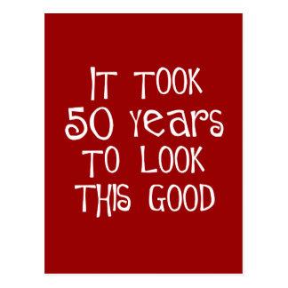¡50.o cumpleaños, 50 años para mirar esto bueno! postal