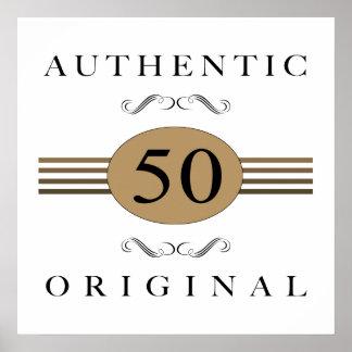 50.o cumpleaños auténtico póster