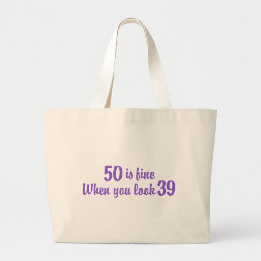 50.o Cumpleaños Bolsa De Tela Grande