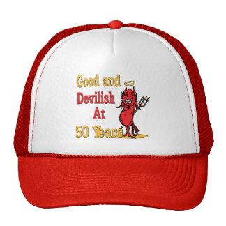 50.o cumpleaños bueno y diabólico gorra