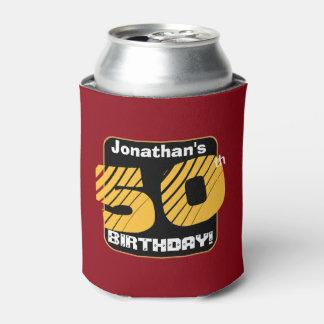50.o Cumpleaños con el número rayado A05 del Enfriador De Latas