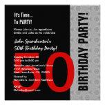 50.o Cumpleaños D845 divertido negro de plata rojo Comunicados