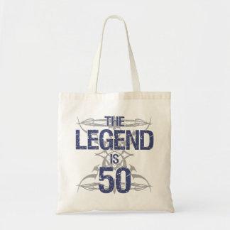 50.o cumpleaños de la leyenda bolsa tela barata