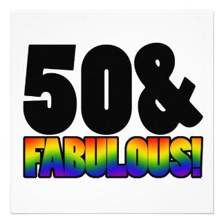 50 o cumpleaños del gay fabuloso invitaciones personalizada