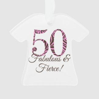 50 o cumpleaños del monograma fabuloso y feroz