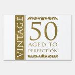 50.o cumpleaños del vintage de lujo