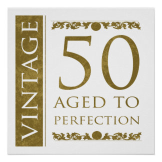 50.o cumpleaños del vintage de lujo impresiones