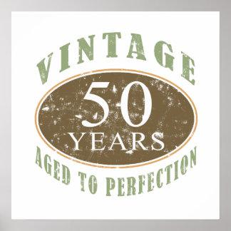 50.o cumpleaños del vintage póster