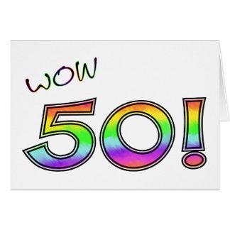 50.o CUMPLEAÑOS del wow Tarjeta De Felicitación