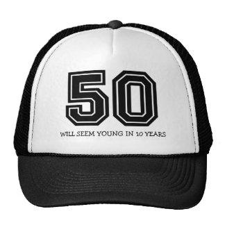 50.o cumpleaños divertido gorras