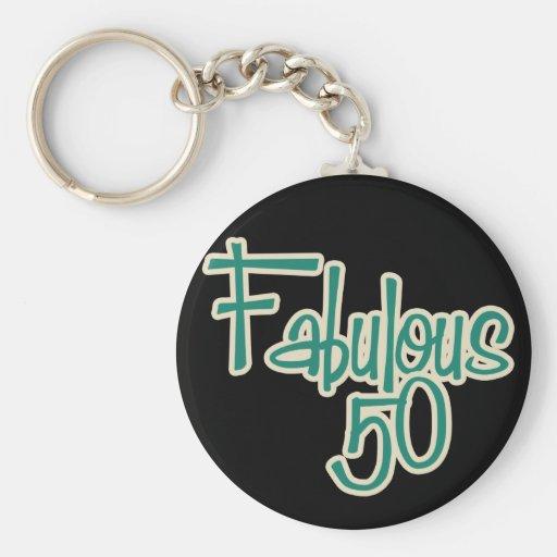 50.o cumpleaños fabuloso llavero personalizado