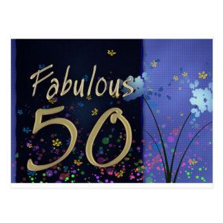¡50.o cumpleaños fabuloso! postal