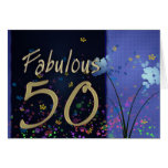 ¡50.o cumpleaños fabuloso! tarjeta