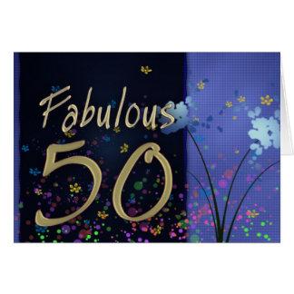 ¡50.o cumpleaños fabuloso! tarjeta de felicitación