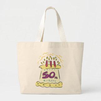 ¡50.o cumpleaños feliz! bolsa tela grande