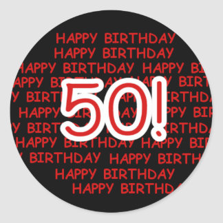 50.o cumpleaños feliz pegatinas