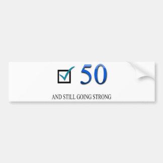 50.o cumpleaños feliz pegatina para auto