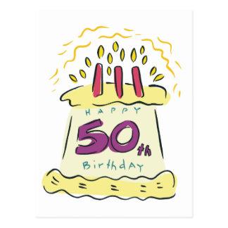 ¡50.o cumpleaños feliz! postales