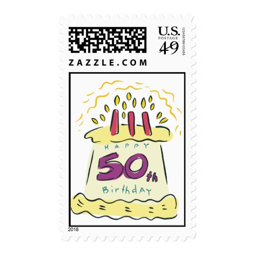 ¡50.o cumpleaños feliz! sellos