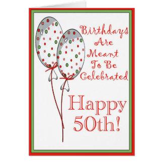 50.o cumpleaños feliz tarjeta de felicitación