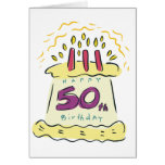 ¡50.o cumpleaños feliz! tarjetas