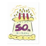 ¡50.o cumpleaños feliz! tarjetas postales