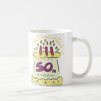 ¡50.o cumpleaños feliz! taza clásica