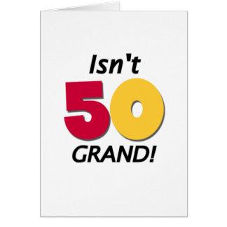 50.o cumpleaños magnífico tarjeta de felicitación