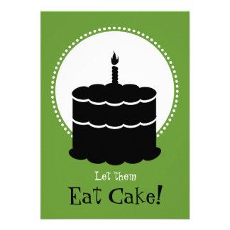 50 o cumpleaños - Margarita contra la torta Comunicado Personalizado