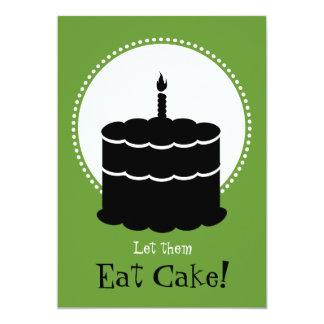 """50.o cumpleaños - Margarita contra la torta Invitación 5"""" X 7"""""""