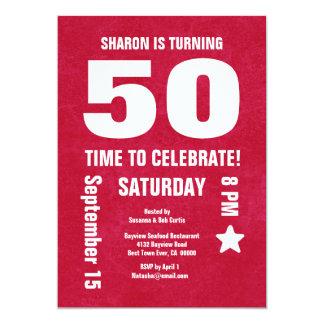 """50.o cumpleaños moderno o cualquier año Chevron Invitación 5"""" X 7"""""""