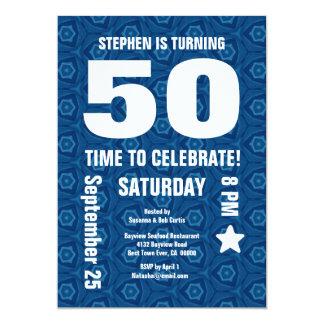 """50.o cumpleaños moderno o cualquier parte invitación 5"""" x 7"""""""