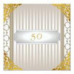 50.o cumpleaños o aniversario de la invitación