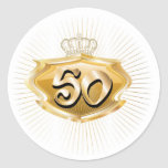 50.o cumpleaños o aniversario pegatina redonda