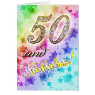 50.o cumpleaños para alguien fabuloso tarjeta de felicitación