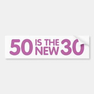 50.o cumpleaños pegatina para auto
