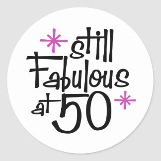 50 o Cumpleaños Pegatina Redonda