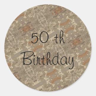50.o Cumpleaños Pegatina Redonda
