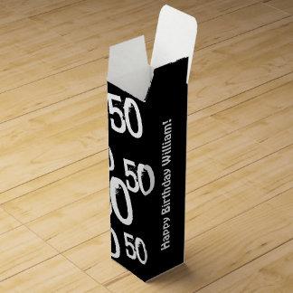 50.o cumpleaños personalizado caja para botella de vino
