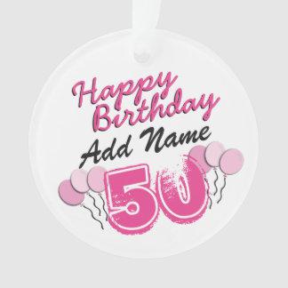 50.o cumpleaños personalizado de Bday del ROSA