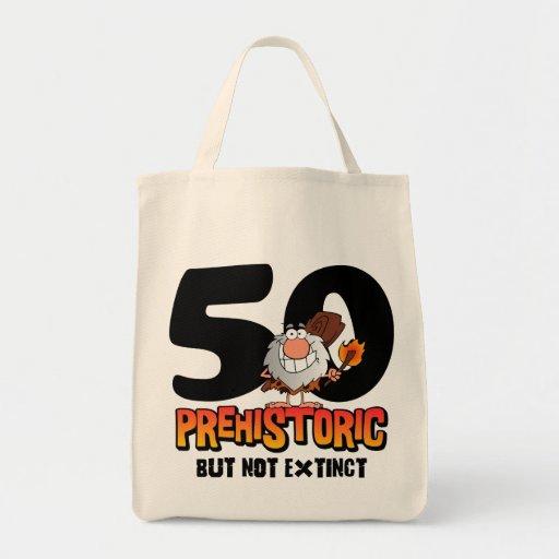 50.o cumpleaños prehistórico bolsas