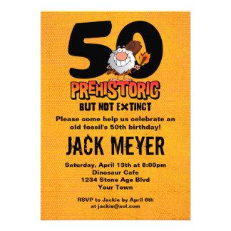 50 o cumpleaños prehistórico invitacion personal
