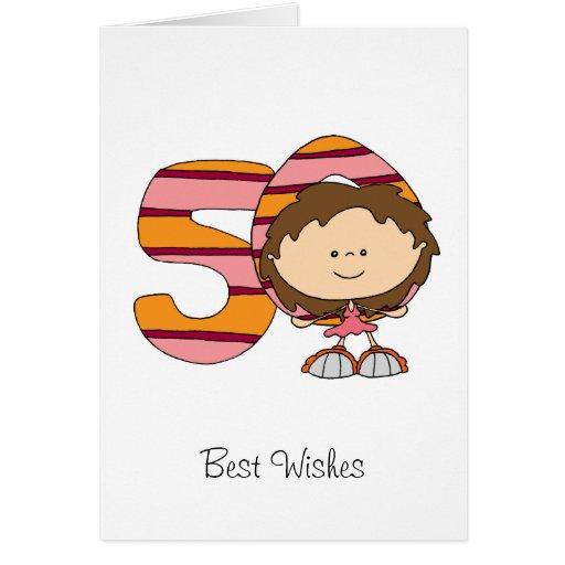50.o cumpleaños - tarjeta de felicitaciones - chic | Zazzle