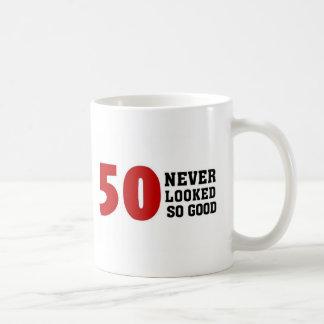 50.o Cumpleaños Taza Básica Blanca