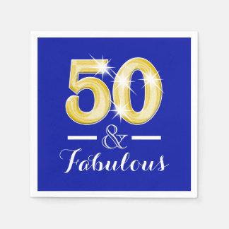 50.o cumpleaños y mujeres fabulosas de los hombres servilleta desechable