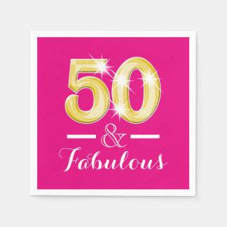 50.o cumpleaños y mujeres fabulosas servilleta desechable