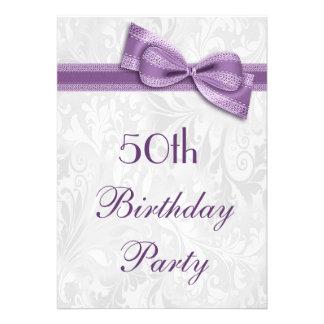 50.o Damasco de la fiesta de cumpleaños y falso ar Anuncio Personalizado