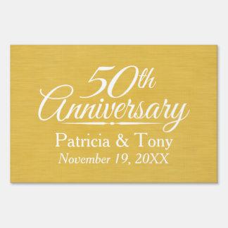 50.o De oro personalizada del aniversario de boda Señales