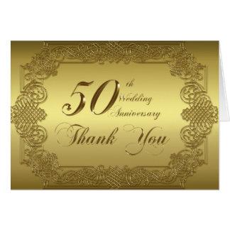 50.o El aniversario de boda le agradece tarjeta de